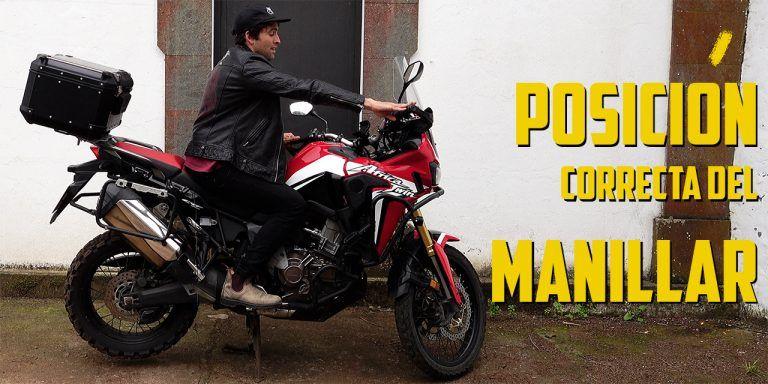 Posición correcta del manillar en una moto Trail