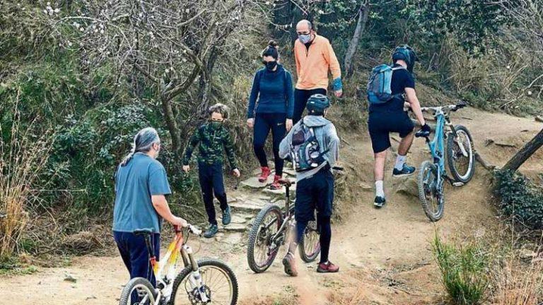 Ciclistas vs senderistas