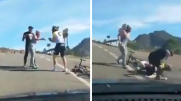 agresión a un ciclista en Gran Canaria