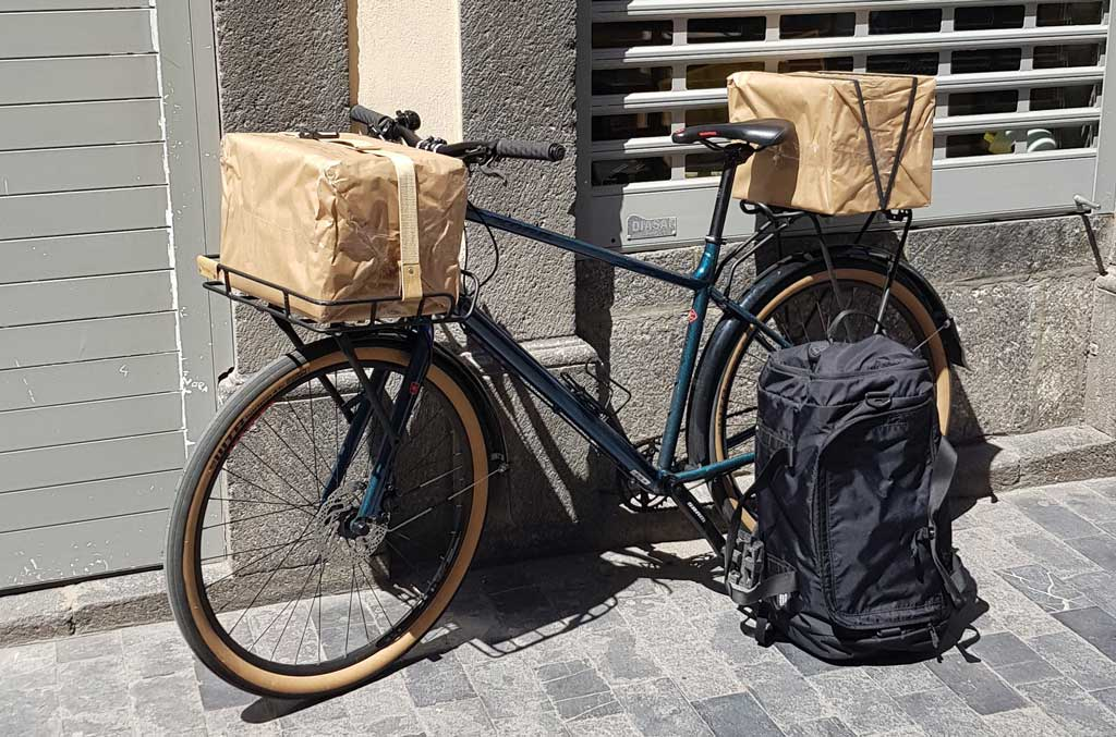 Bicicleta para llevar paquetes